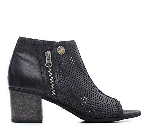 NERO GIARDINI MID stub femme in cuir noir P615230D 100 noir P6 15230 D