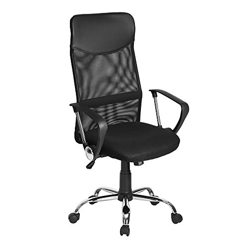 Low Back Leder Schwarz (FITATHOME Mesh High Back Einstellbarer Swivel Office Executive Chair Schwarz)