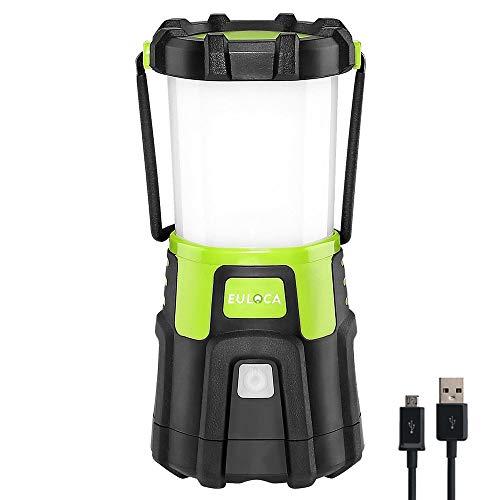 EULOCA 21200LM Recargable, Regulable 4 Modos, Linterna para iluminación Exterior, Camping, Bivouac, Hogar, Bricolaje, con Cable USB Baby-Girls, 2, 2