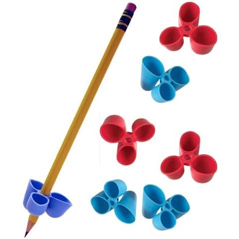 The Classics TPG-21206 - Adaptador para lápiz (tamaño mediano, 6 unidades), color azul y rojo