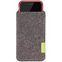 WildTech Sleeve für Apple iPhone 7 Plus / 6S Plus / 6 Plus mit Apple Leder Case / Silikon Case - 17 Farben (made in Germany) - Grau