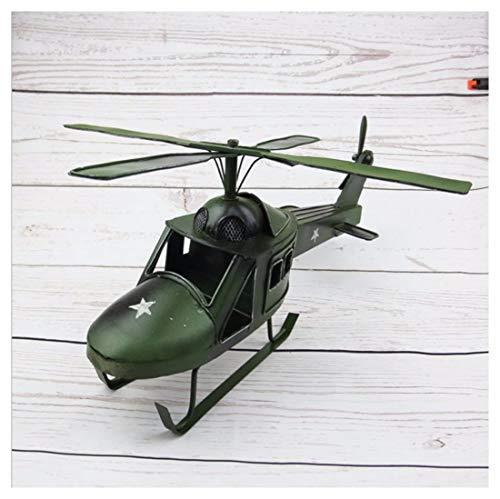 Gwmodel vintage elicottero militare modello handmade ferro battuto antico modello veicolo collezione home desktop decorazioni retrò personalità creative ornamenti regali per adulti