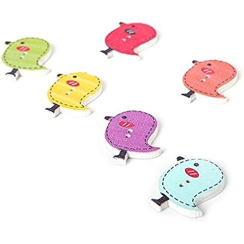 Vollter 50pcs/Pack Colorate di uccelli Bella decorazione