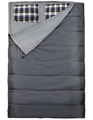 Loftra Duo Plus Cojín, Gris Saco de dormir doble, 220x 150/75cm, diseño de O