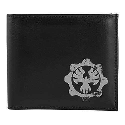 Gears Of War 4 The Coalition Geldbörse - Offizielles Merchandise - Schwarz mit grauem Logo