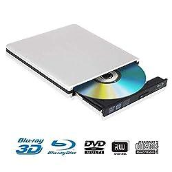 Moglor Graveur lecteur Blu Ray externe peut lire les disques Blu-ray, DVD et CD, peut également écrire des disques Blu-ray, DVD et CD. Connecté par un port USB 3.0, ce lecteur de DVD a une vitesse de transfert rapide des données et une forte capacité...