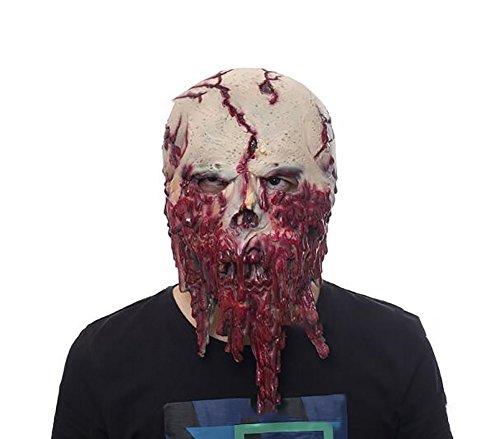 Chakil 1 Stück Gruselige Maske Halloween Cosplay Horror Maske für Halloween Kostüm Party Gefälligkeiten Latexmaske