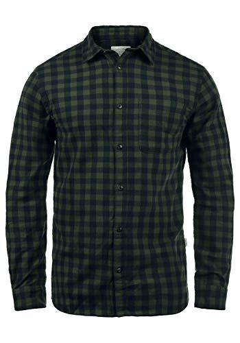 JACK & JONES Originals Zagros Herren Freizeithemd Hemd Mit Karomuster, Größe:XL, Farbe:Forest Night