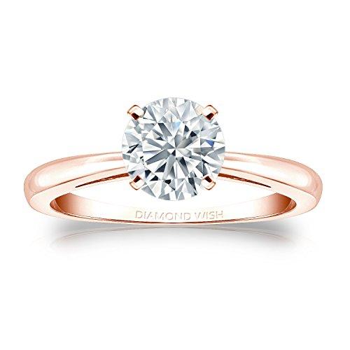 Diamond Wish  -  14 Kt Rotgold Rundschliff Leicht Getöntes Weiß/Top Crystal (I) Weißer Diamant