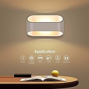 unimall 5w led wandleuchte bad wasserdicht wandlampe innen elegant minimalistisch modern design. Black Bedroom Furniture Sets. Home Design Ideas