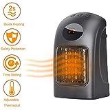 Outtybrave Mini Calefactor Eléctrico Portátil Calentador de Ventilador para Uso Personal,Pantalla LED,Protección