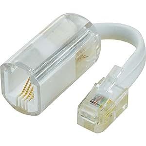 Adaptateur dérouleur de câble RJ10 mâle 4P4C RJ10 femelle 4P4C transparent