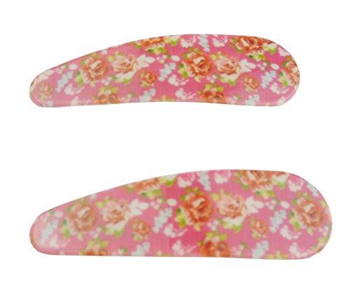 Liebenswürdig, Mädchen Retro Paar 2Daisy Floral Print 5cm Haarspangen -