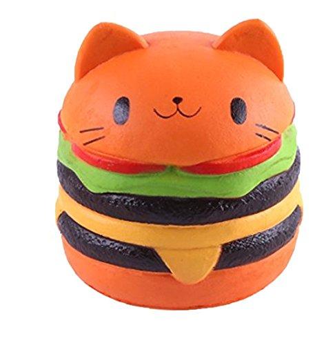 Antistress squishy slow rising giocattolo,yeehoo kawaii jumbo morbido simulata lenta aumento per il regalo del partito di compleanno size(gatto hamburger)