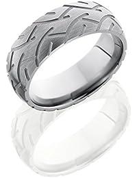 SlipRock Titanium, Cycle Engraved Satin Finish Wedding Band (sz H to Z1)