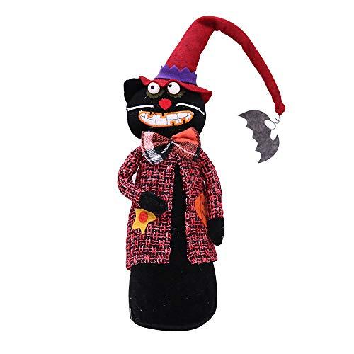VEMOW Heißer Happy Halloween Puppe Geist Dekoration Bar Kürbis Atmosphäre Dekor Prop Spielzeug(Mehrfarbig, 40 X 10 cm)