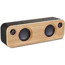 The House Of Marley Get Together Mini Mono portable speaker 24W Negro, Madera - Altavoces portátiles (1,91 cm, 6,35 cm, 24 W, 80-20000 Hz, Inalámbrico y alámbrico, Bluetooth)