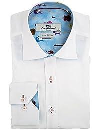 Dolce Schmetterling Trim Herren Hemd: : Bekleidung
