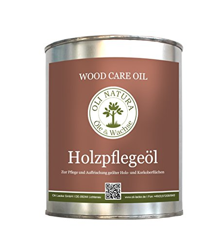 OLI-NATURA Holz-Pflegeöl für innen (geeignet für Möbel, Treppe, Parkett und Holz-Boden), 1 Liter, Farblos/natur Test