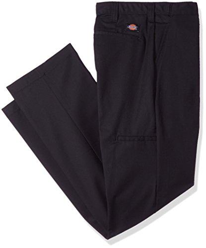 Dickies Littmann Workwear lp700bk Polyester/Baumwolle Relaxed Fit Herren Premium Industrie Flache Vorderseite Komfort Taille Hose mit geradem Bein, schwarz, 42