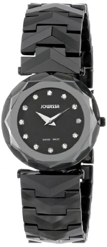 Jowissa Safira 99 Women's Quartz Watch with Black Dial Analogue Display and Black Ceramic Bracelet J1.024.M