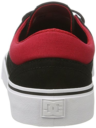 DC Shoes Trase Tx, Baskets Basses Homme Noir (Black/Red/White)