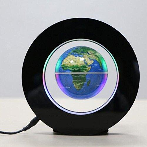Magnetschwebetechnik LED Lichter schwimmende Globus Karte für Schreibtisch Dekoration Kinder pädagogische Globus - (3 Zoll 85mm) , B