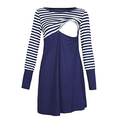 LIMITA Umstandskleider Stillen Kleider Kleider zum Stillen Schwangere Stillkleider Einfarbige Schwangere Kleider