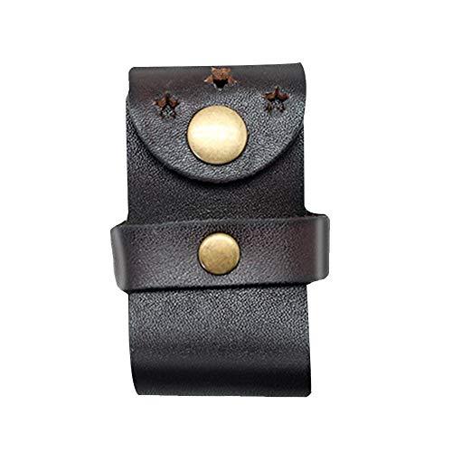 boshiho Herren Echtes Leder FlipTop Licht Tasche Halter mit Gürtelschlaufe, kastanienbraun, 2.91 * 1.57 * 1.37 inch
