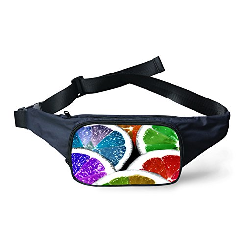 WHCREAT Convenient Herren Früchte Print Outdoor Taille Packs Tasche Frucht 1