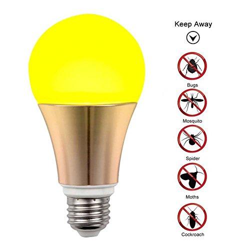 Mückenschutzlampe LED Mosquito Repellent Bug Glühbirne , 2-Modus-Moskitosteuerung/Beleuchtung - Moskito-Insekten für den Innenbereich Fliegen Spinnen Repeller Repellent Home Warm-9W (110-240V) E27