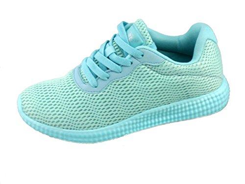 Rebelde , Damen Sneaker Hellgrün