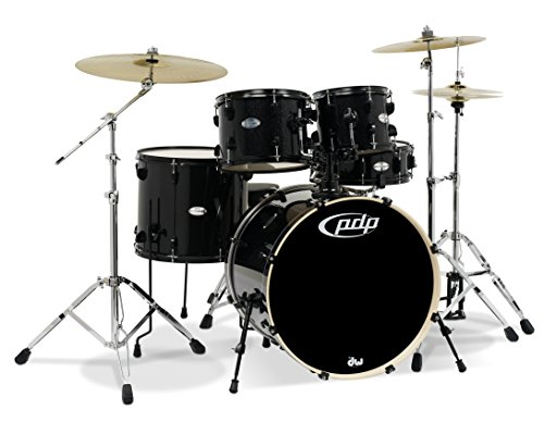 PDP By DW Mainstage 5-Piece Drum Set w/Hardware and Paiste Cymbals Black Metallic