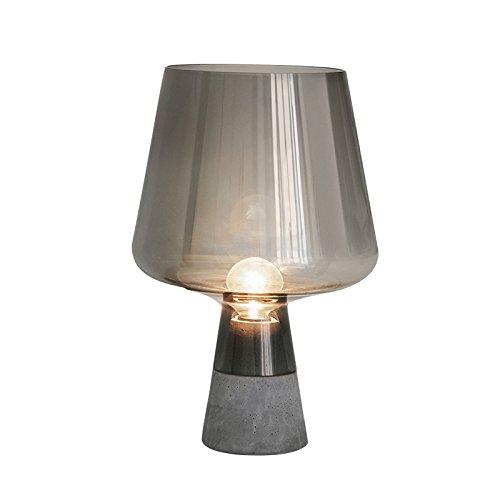 Muidege Le style country américain ciment créatif européen lampe de chevet chambre à coucher Jardin Lampe décorative en verre fumé