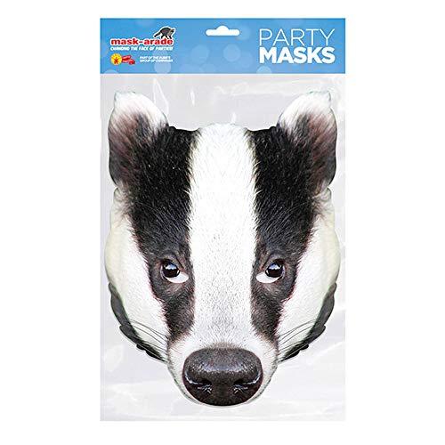 empireposter Tier Maske - Dachs - hochwertiger Glanzkarton mit Augenlöchern - Größe ca. 30x21 cm (Dachs Kostüm Maske)