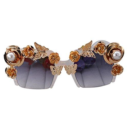 Preisvergleich Produktbild Retro Sonnenbrille Brille, Asnlove Moderne Modische Unisex Spiegel Runde Dekorative Weißer Rahmen Sonnenbrillen, Strand Sonnenbrille, UV-Schutz, Schutzbrille Unisex Herzbrille