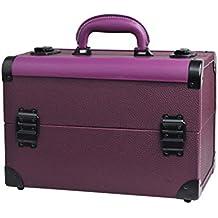 d194f574a Beauty Case Maletín de Maquillaje portátil de múltiples Capas Doble  aleación de Aluminio Abierto Caja de