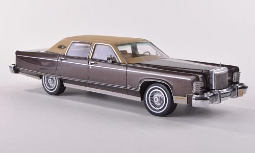lincoln-continental-town-car-met-brown-matt-beige-1977-model-car-ready-made-neo-143-by-neo