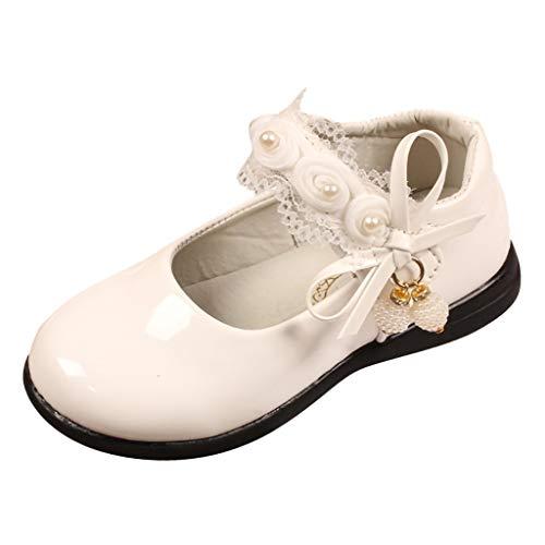 Alwayswin Kinder Baby Mädchen Blume Prinzessin Schuhe Perle Spitze Tanz Einzelne Schuhe Flache Bequem Kinderschuhe Mode Klettverschluss Sandalen Party Kleid Schuhe Mary Jane Schuhe