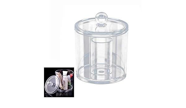 teng hong hui Makeup Box di stoccaggio Stand tampone Box Organizzatore Cancella Portastuzzicadenti Rotonda Cotton fioc stuzzicadenti Dispenser Contenitore di plastica