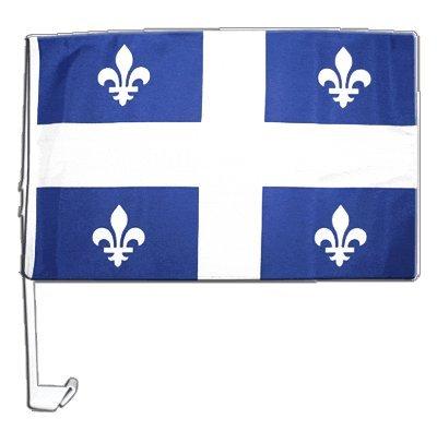 Flaggenfritze Autofahne Autoflagge Kanada Quebec - 30 x 40 cm (Autofahne Kanada)