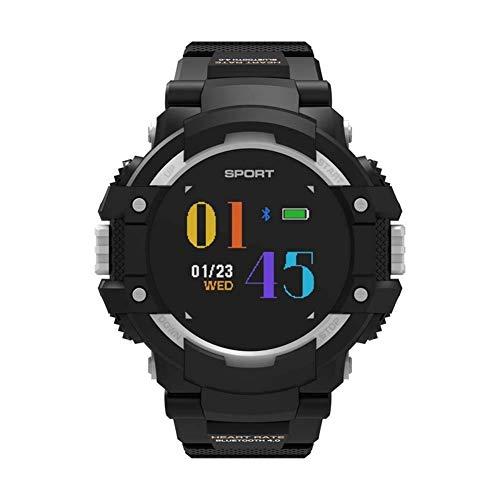 Donei Smart Watch Schrittzähler Smart Outdoor Sports Armband Runder Bildschirm Bluetooth Anruf Sport wasserdichte Armbanduhr (Farbe : Silber grau)