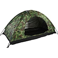MAGT Camping Tent-Waterproof One Person Tent- Outdoor Camouflage UV Protection For Camping Hiking (200 * 100 * 100 Cm)