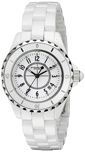 Stührling Original 530.11EW3 - Reloj analógico para mujer, correa de cerámica, color blanco