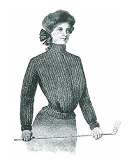 1176 Misses Golf Sweater Vintage Knitting Pattern Single Patterns