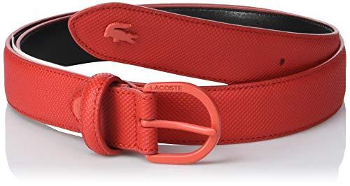 Lacoste Damen Gürtel Rc2112, Rot (High Risk Red 883), 75 (Herstellergröße: 90)