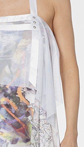 LMV La Mode est à Vous - Robe PAINT- Femme MULTICO WHITE