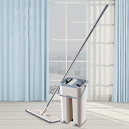 VICKY-HOHOJewelry & - Sided Non Handwäsche Flat Mop Holzboden Mop Staub Push Mop Reinigungswerkzeuge (Trocken Mops Für Holzböden)