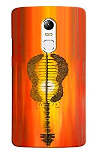 Omnam Guitar Made Of Trees And City Beautifully Printed Printed Designer Back Cover Case For Lenovo Vibe X3