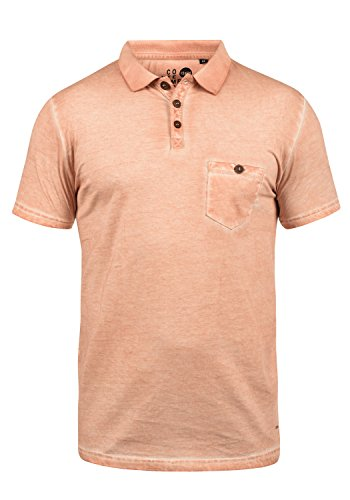 !Solid Termann Herren Poloshirt Polohemd T-Shirt Shirt Mit Polokragen Aus 100% Baumwolle, Größe:L, Farbe:Mahog. Rose (4203) (100 Baumwolle T-shirt)